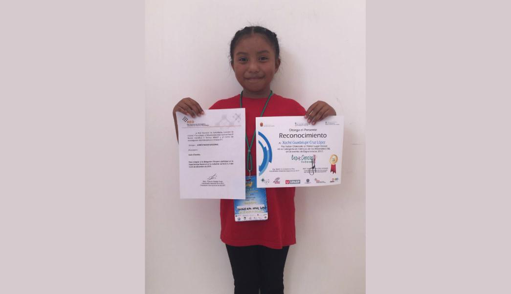 Niña mexicana de 8 años , gana premio de Ciencias Nucleares de la (UNAM) .