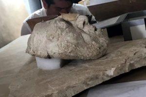 Descubren máscara del rey Pakal Maya en Chiapas México.