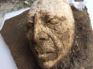 Descubren máscara del rey Pakal Maya en Chiapas México.-