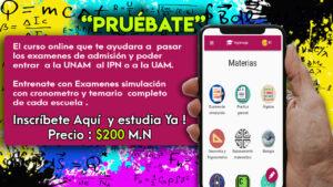 Únete a esta App que te ayudará a pasar el examen de admisión en UNAM,IPN,UAM,COMIPEMS