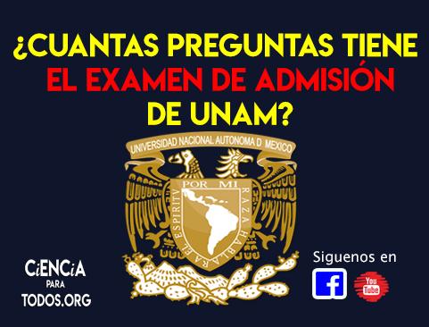 ¿Cuantas preguntas tiene el examen de admisión UNAM 2020 ? (por materia).