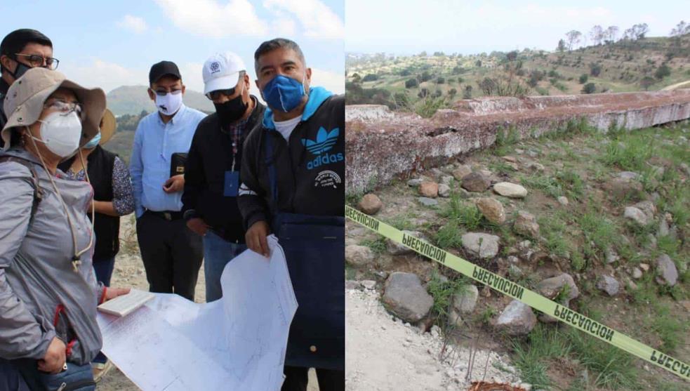 """Destruyen zona arqueológica  """"Los baños de Nezahualcóyotl"""" es un daño irreparable INAH."""