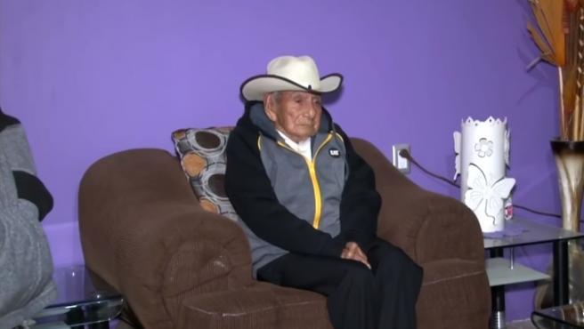 El mexicano que tiene 124 años de edad .