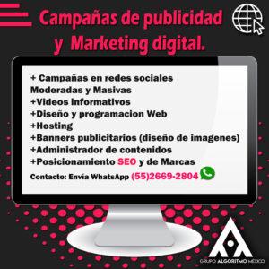 MARKETING DIGITAL , DISEÑO Y PROGRAMACIÓN WEB MÉXICO 6